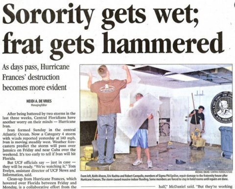 frat headline
