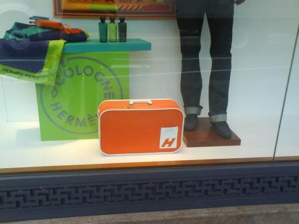 h bag hermes window