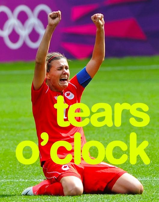 Christine Sinclair: tears o'clock